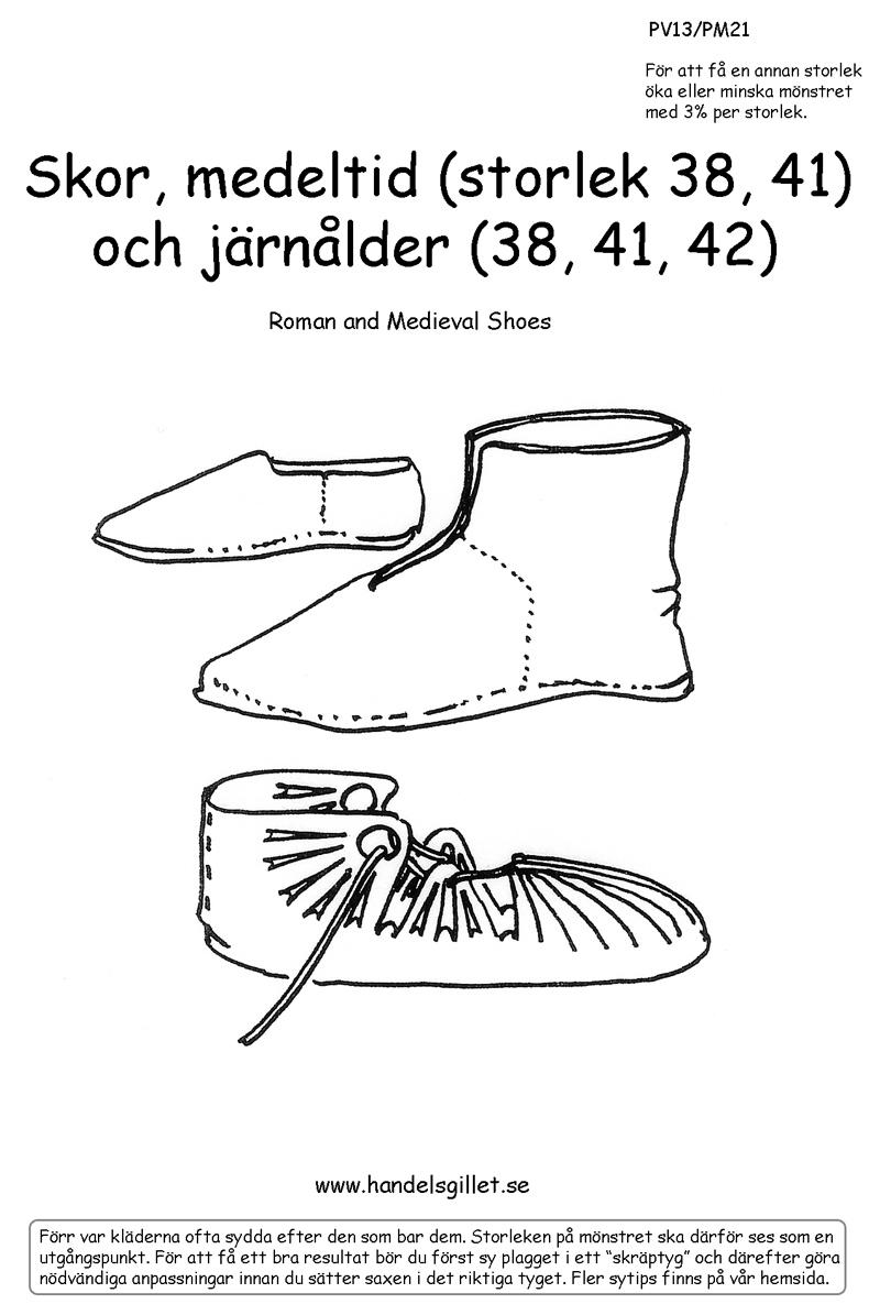 PV02 Skor, medeltid och järnålder